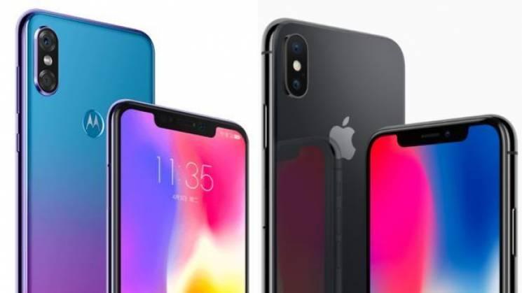 """Motorola нахабно """"спіонерила"""" iPhone X (ФОТО)"""