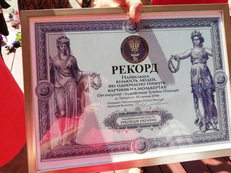 В Тернополе 111 художников установили ху…