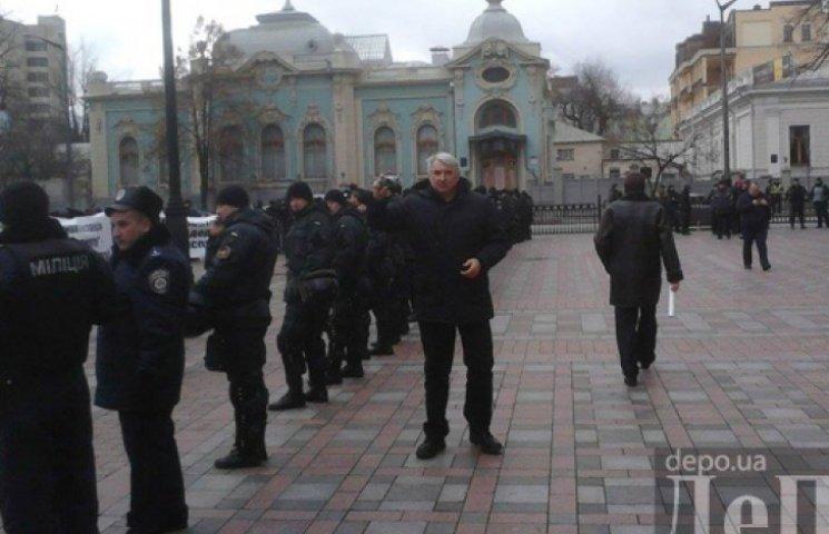 Зам Витренко засветился на митинге под Радой