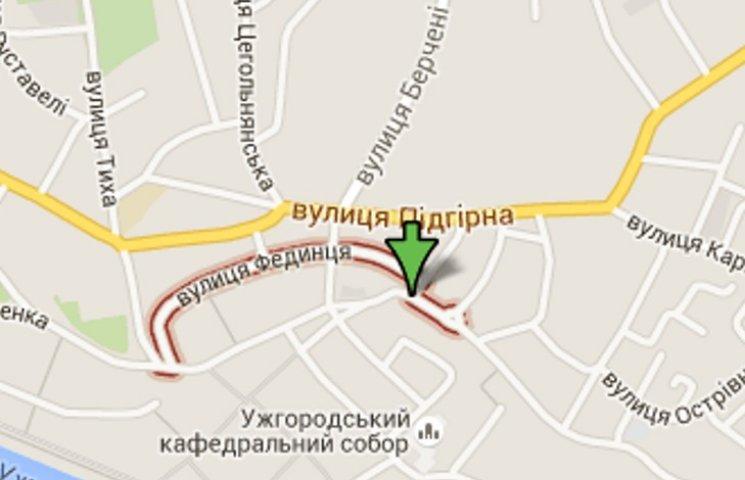 На одній з вулиць Ужгорода заборонено рух автомобілів