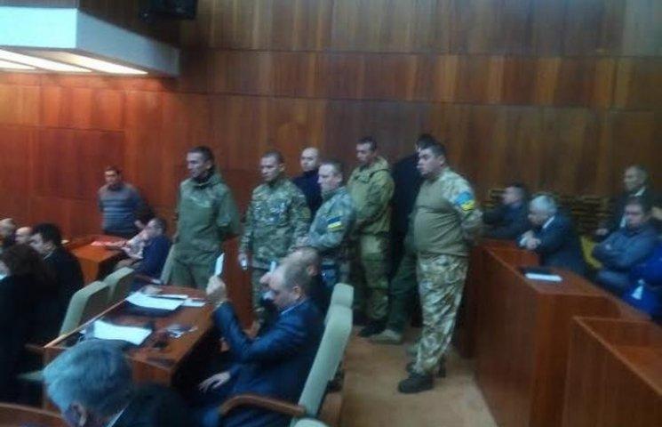 """На сесію Полтавської облради завітали бійці """"Айдару"""""""