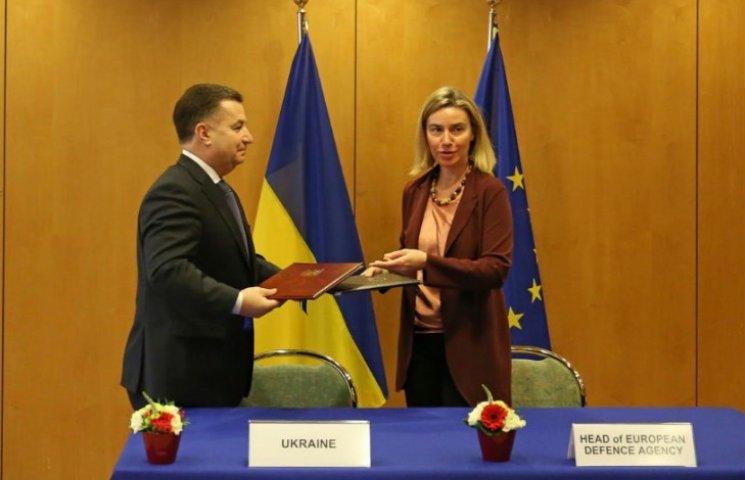 Полторак и Могерини подписали оборонную сделку