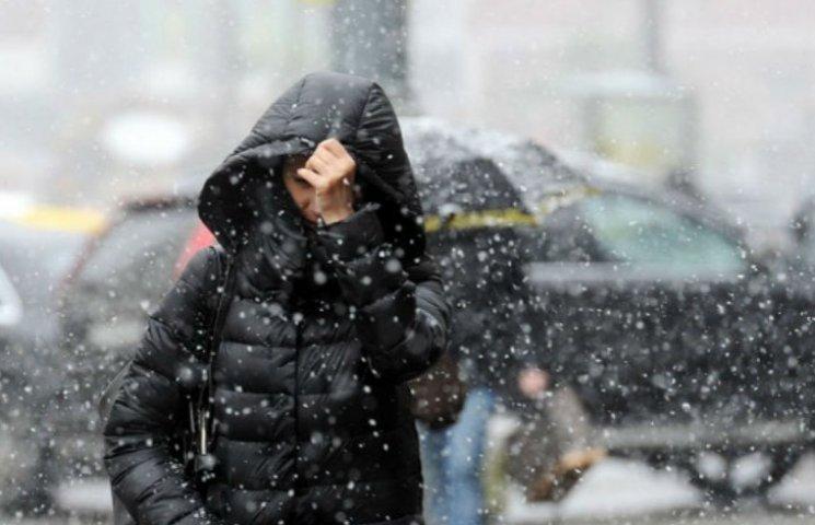 Киян попереджають про мокрий сніг та шквальний вітер