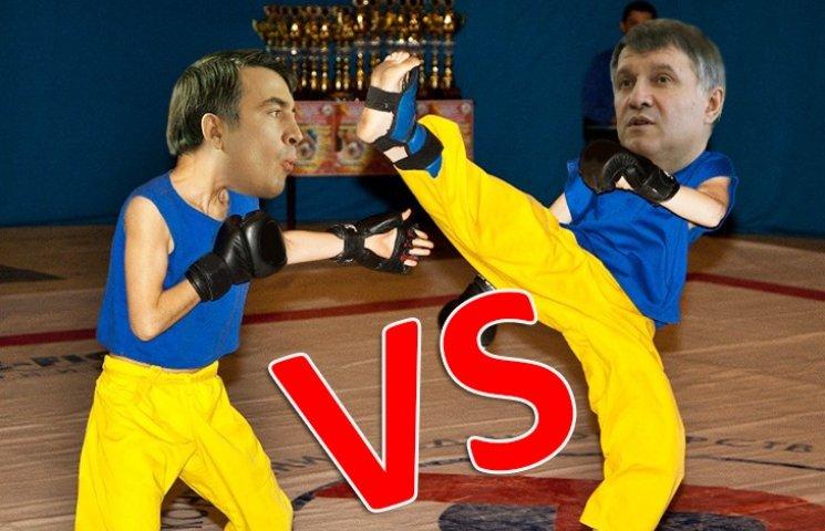 Аваков VS Саакашвили: поединок, на который можно смотреть бесконечно (18+)