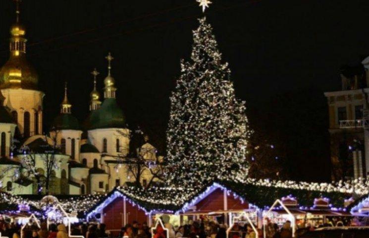 Програма новорічних та різдвяних святкувань у Києві (КАРТА)