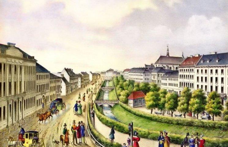 Як виглядав Львів з рікою в центрі міста