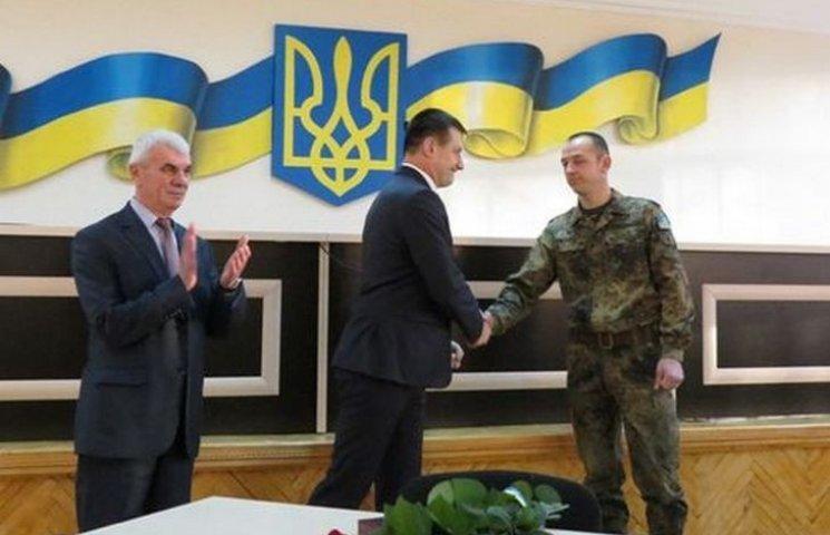 """Вінничанин отримав орден """"За мужність"""" від Президента"""