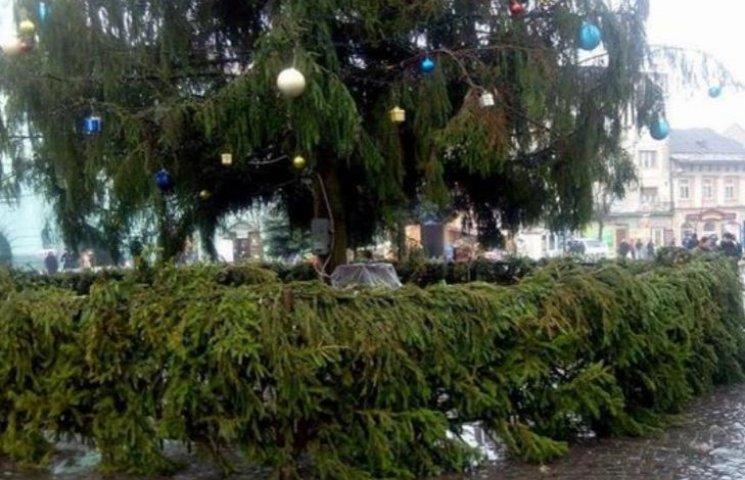 У Мукачеві з головної новорічної ялинки вкрали іграшки