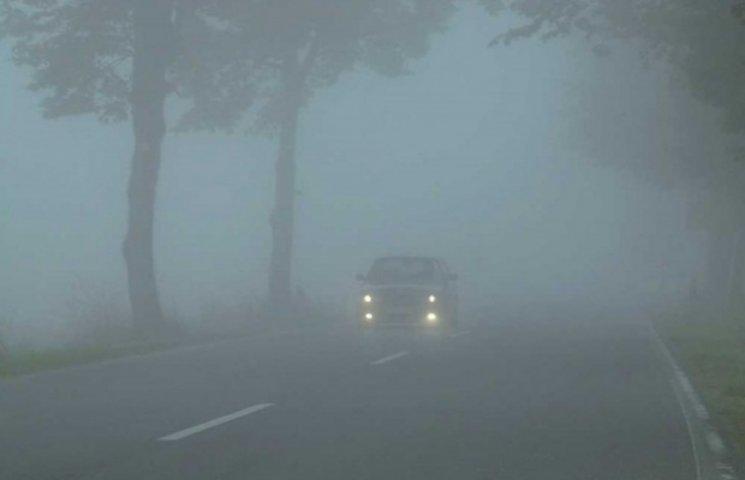 Закарпатських водіїв попереджають про туман