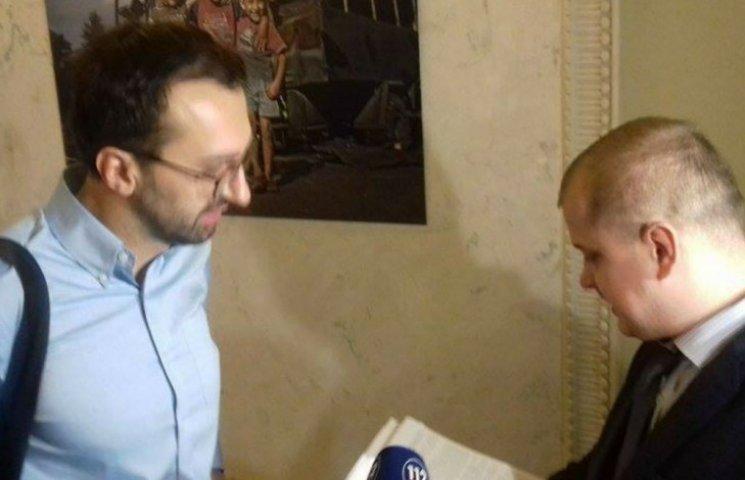 """Лещенко убежал от служащего НАЗК, который принес ему """"квартирный"""" протокол"""