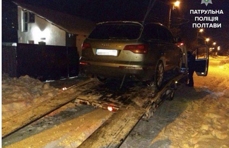 В Полтаві випадково знайшли Audi, вкрадену два роки тому