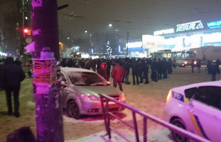 В Днипре Мафовцы в час пик перекрыли дорогу