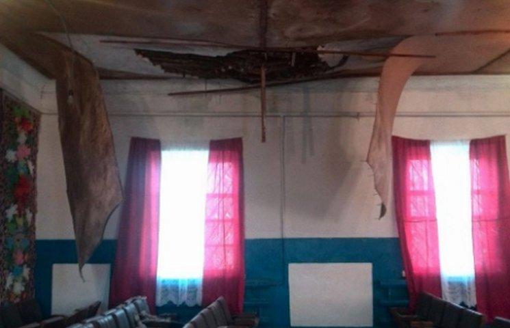 Екстремальне голосування на Дніпропетровщині: у приміщенні ДВК обвалилася стеля