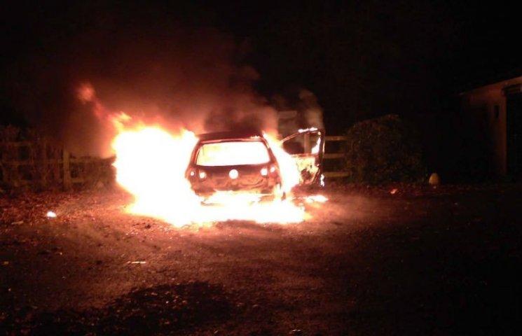 В Кременчуге сгорел автомобиль Volkswagen Passat