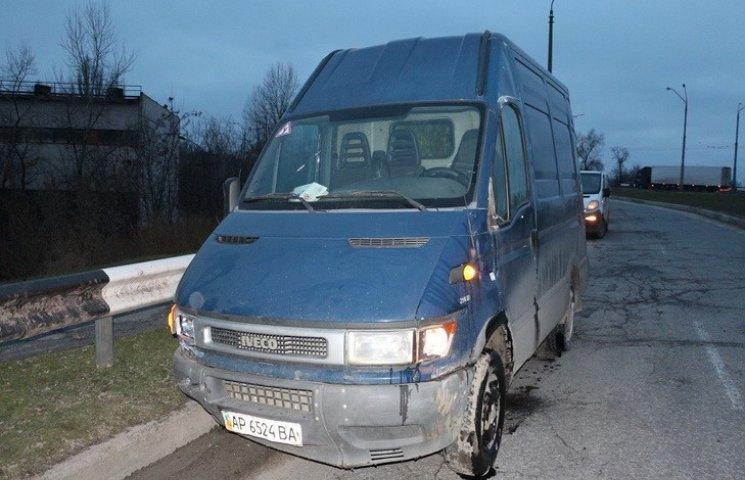У Дніпрі на Кайдацькому мості перекинувся мікроавтобус