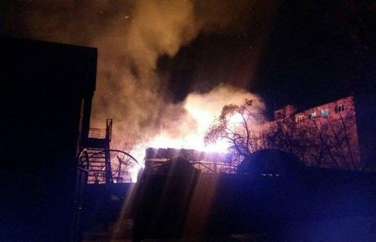 В Полтаве дотла сгорел одноэтажный дом