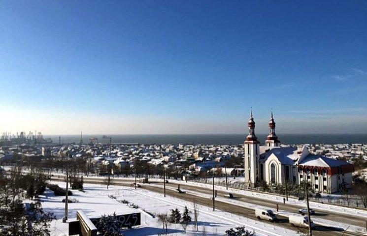 До Бердянська прийшла справжня зима