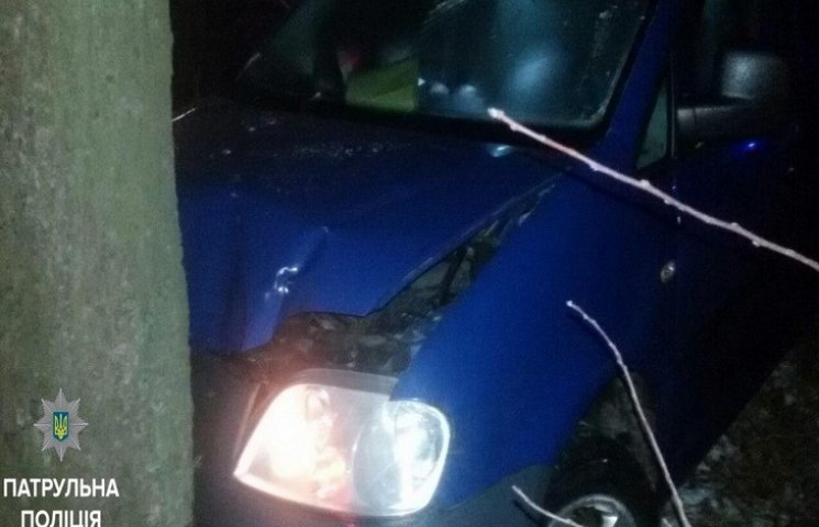 В Днипре машина столкнулась с деревом во время бегства от полиции