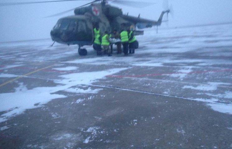До лікарень Дніпра вертольотом з АТО доправлені сім бійців