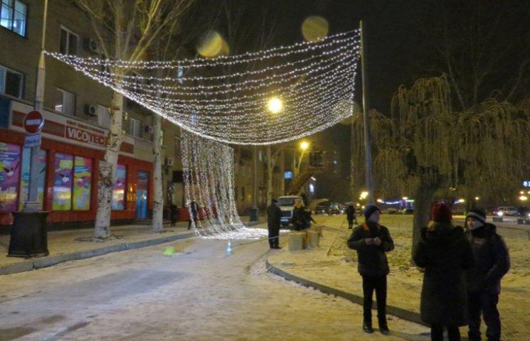 Як прикрашають Мелітополь до новорічних свят