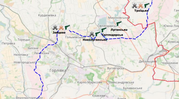 Взоні АТО задобу загинув один український військовий, 4 поранені