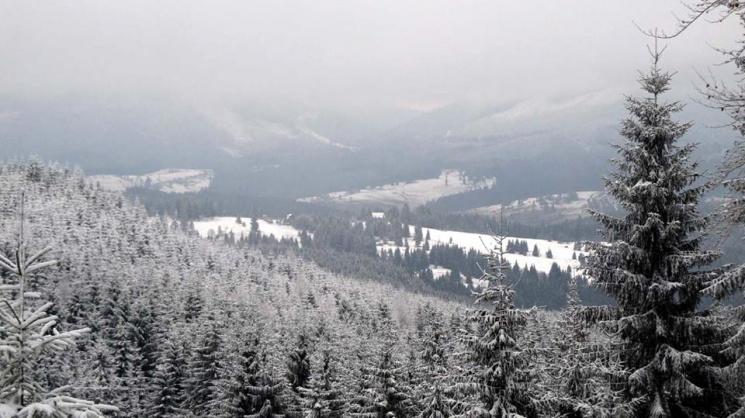 Яким буває взимку гірський хребет на межі трьох областей (ФОТО)