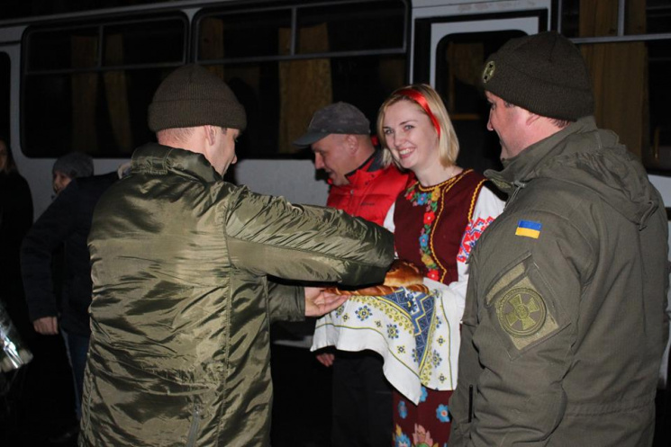 Одеські нацгвардійці повернулися з Донбасу (ФОТО)