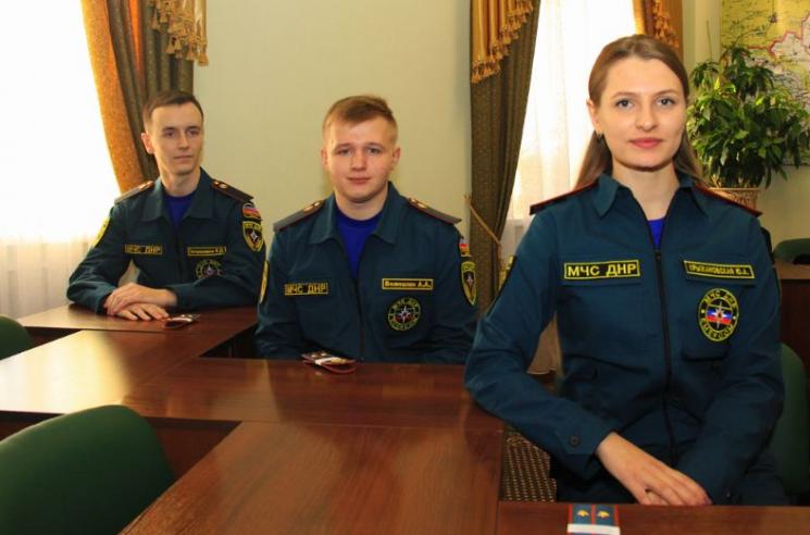 Харьковские курсанты работают вДНР
