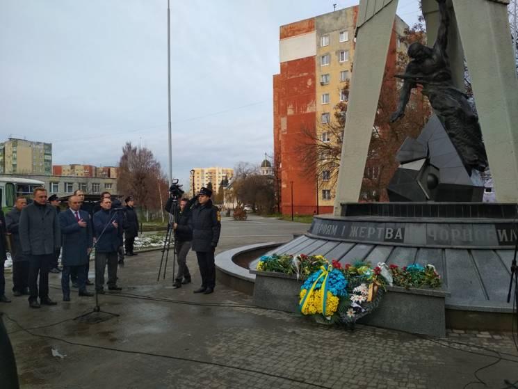 УЛуцьку вшанують учасників ліквідації аварії наЧорнобильській АЕС