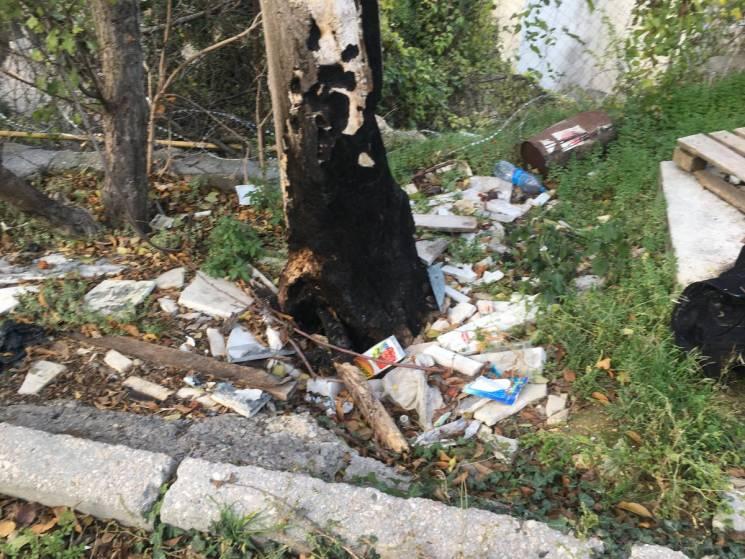 У мережі поширили фото сміттєзвалища біля штабу морфлоту Росії в Севастополі (ФОТО)