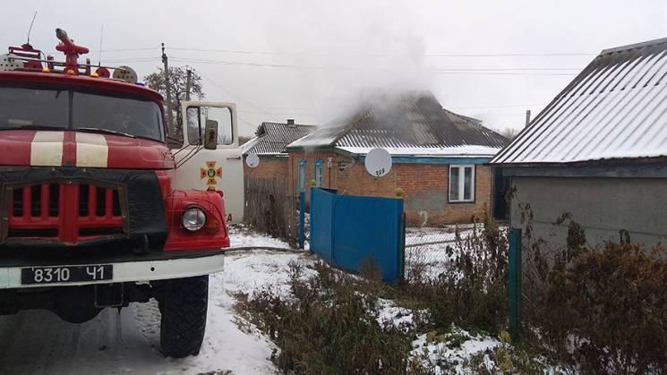 У Карлівці на Полтавщині сталася пожежа в житловому будинку
