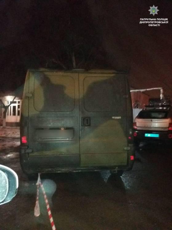 У Дніпрі виявили мікроавтобус із арсенал…