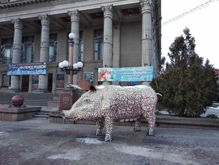В самом центре Тернополя установили огро…