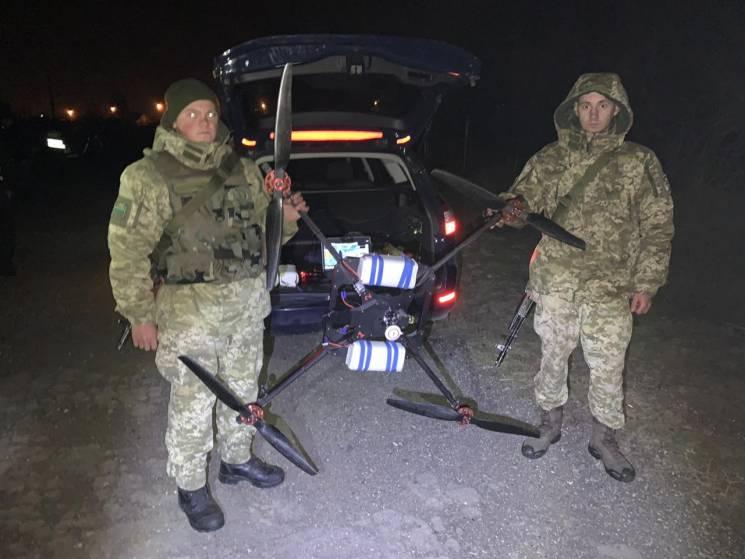 Прикордонники затримали квадрокоптер з контрабандистом (ФОТО)