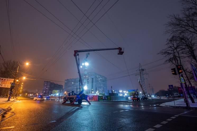 У Дніпрі вночі перекривали Запорізьке шосе (ФОТО)
