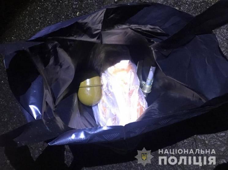 На Дніпропетровщині у автівці виявили гранату (ФОТО)
