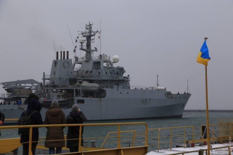 В Одесу зайшов бойовий корабель Королівського флоту Великої Британії