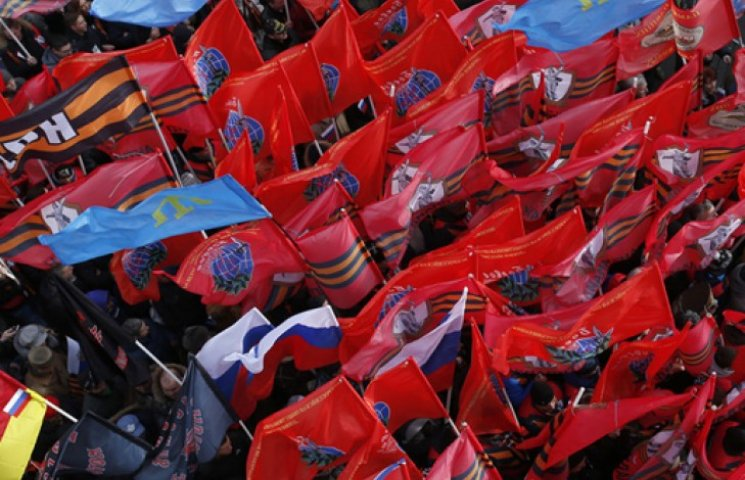 На «антимайдан» в Москве сгоняли студентов и бюджетников