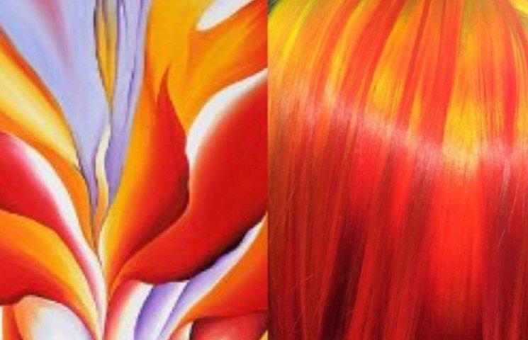 Как парикмахер изображает известные картины на волосах своих клиентов