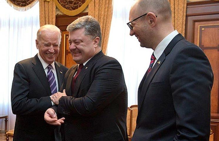 Зачем американцы пугали Порошенко и спасали Яценюка