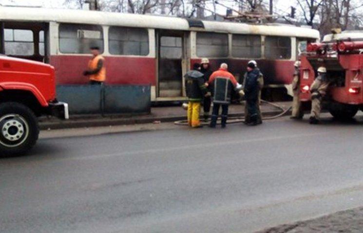 В Запоріжжя знову горів трамвай