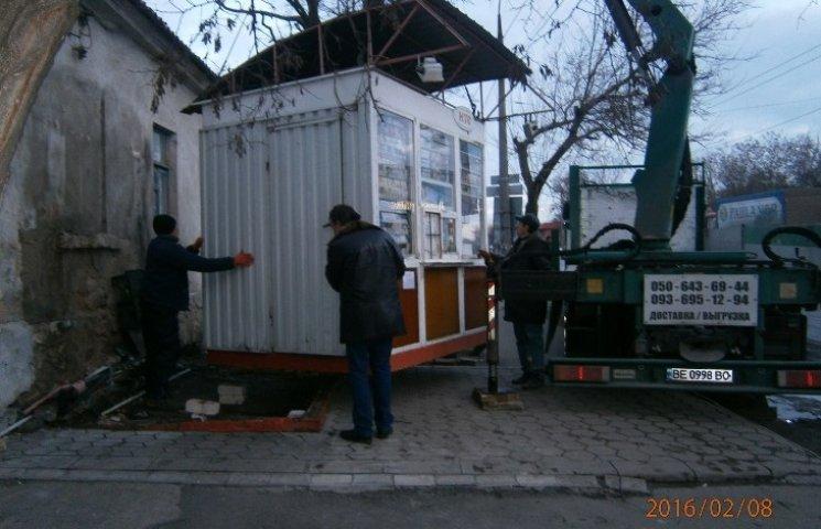 У Миколаєві знесли черговий незаконний МАФ