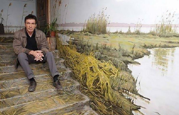 Как на России художник-самородок разрисовывает подъезды живописными пейзажами
