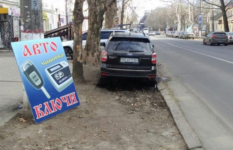 У Миколаєві водій іномарки припаркувався на клумбі біля управління поліції
