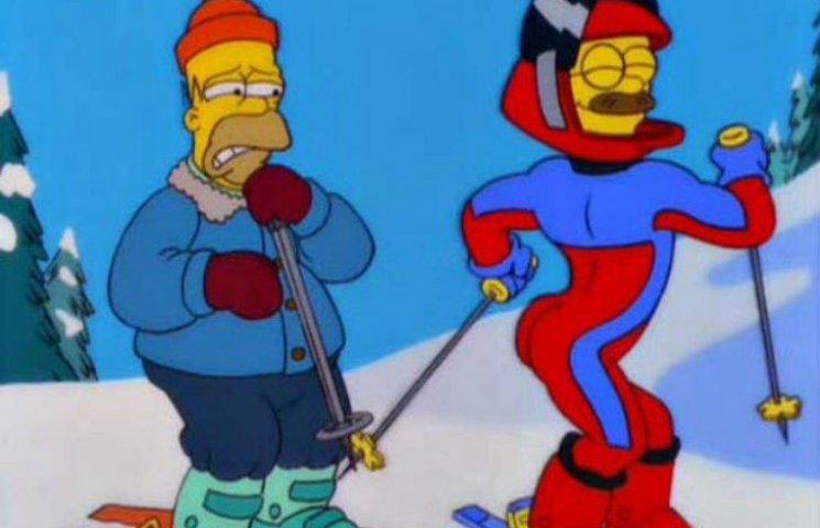 Як Медведєв в гламурній куртці з оленями звабливо кокетував на лижах (ФОТОФАКТ)