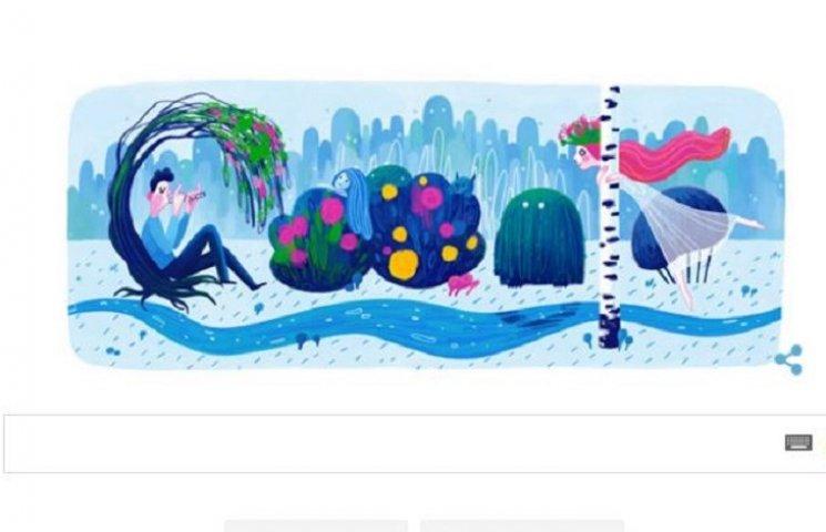 Google выпустил doodle к 145-летию от дня рождения Леси Украинки