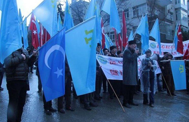 Як у Туреччині протестували проти окупації Криму