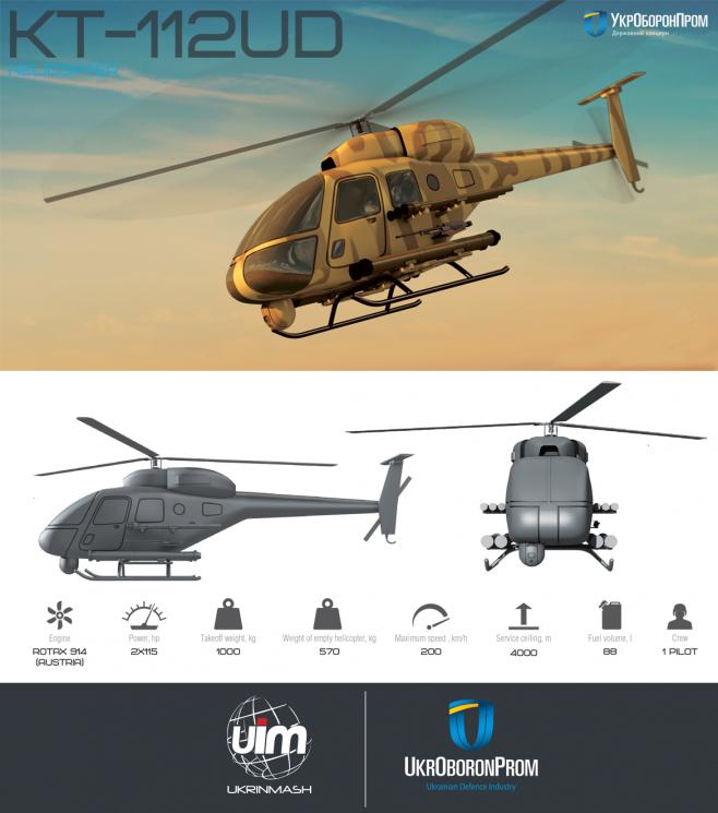 «Укроборонпром» впервый раз представил украинский боевой вертолет Combat