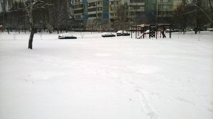 "Столицю вчергове накрив сніг: На дорогах ""каша"", а комунальники пихтять"