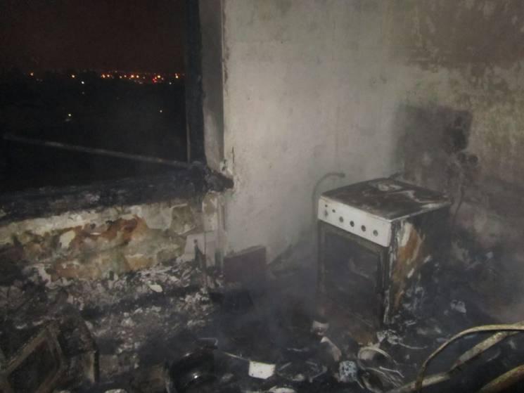 На основной  улице Харькова произошел масштабный пожар